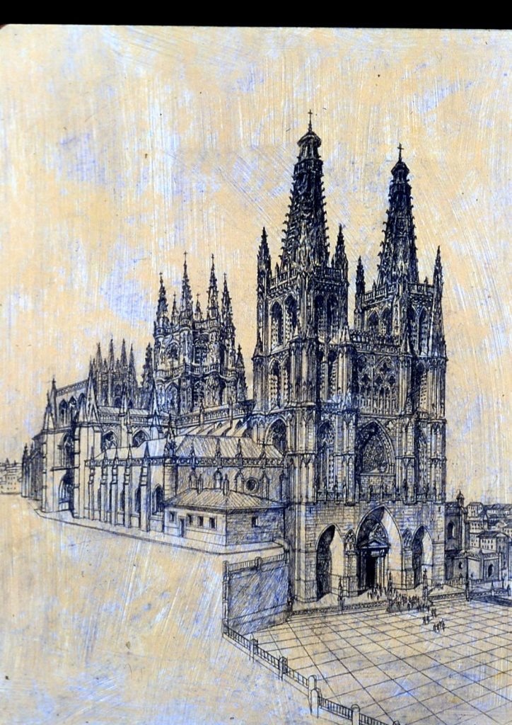 A sketch of a cathedral in Spain